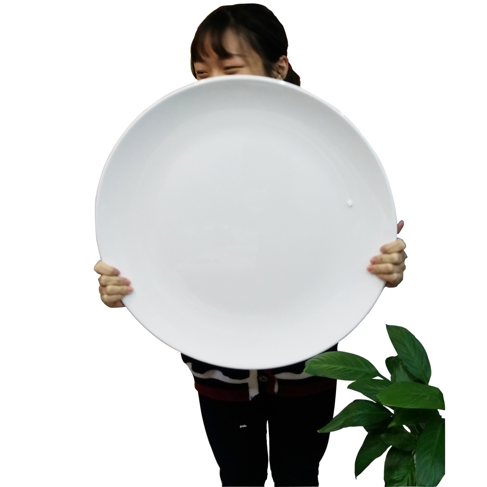 MA503 20 inch Cheap Custom White Pizza and Seafood Melamine Plate