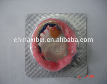 male latex rubber spiked condom/spike condom with bulk packing