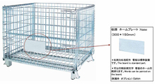 Heavy Duty Stacked Mesh Pallet Metal Cage for Warehouse
