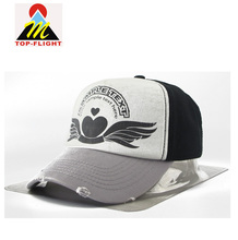 Heavy Wash Baseball Cap Custom Logo Ripped 5 Panel Cotton Hats Cap