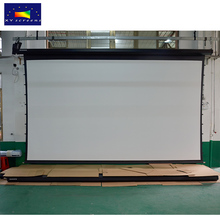 "projection screen Factory 2017 new 80""-300"" large motorized cinema project screen and home theater motorized projection screen"
