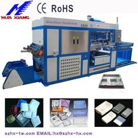 plastic vacuum forming machine to make fruits and vegetables box/tray