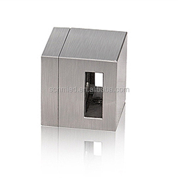 Stainless steel Square Bar Holder bar connector crossbar holder for Handrail