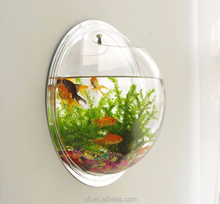 Factory Sell Wall Mounted Fish Bowl/Fish Aquarium Accessories/Acrylic Fish Tank