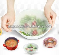 Soft Flexible Silicone food wrap in stretch film for keep food and fruit fresh