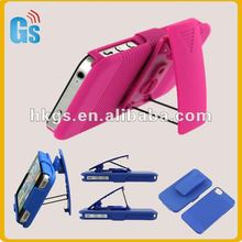 Hot-pink holster super combo with stand for iphone4 4s case