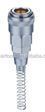Japan Type Air Quick Coupler Plug, coupling with spring hose fitting