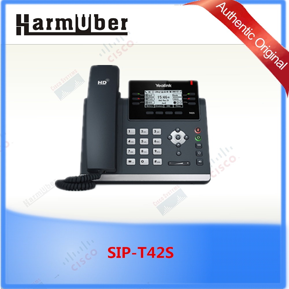 Yealink 12-line IP SIP Phone SIP-T42S Supports WiFi and Bluetooth