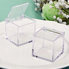 Clear acrylic storage box display cube gift package box