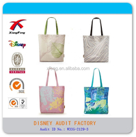 2015 Fashion Cotton Canvas Shopping Tote Bag, Printed Handbag