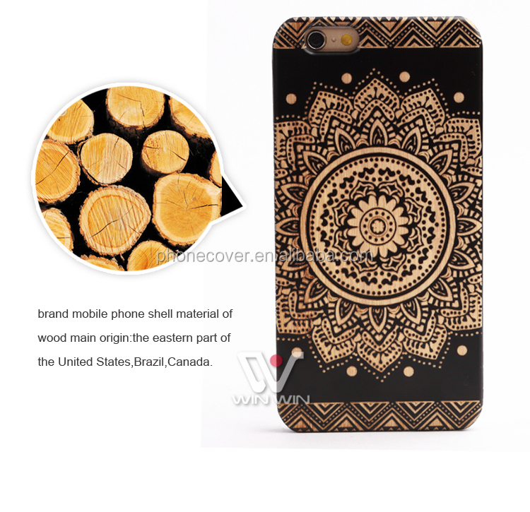 2016 newest carving wood cover for iphone