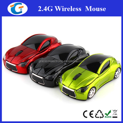 custom color and logo printing wireless mouse car shaped