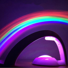 Shenzhen custom portable usb rechargeable projector led rainbow night light for kids