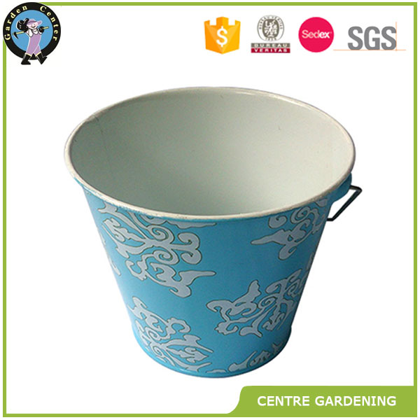 Wholesale galvanized metal flower bucket plant with handle