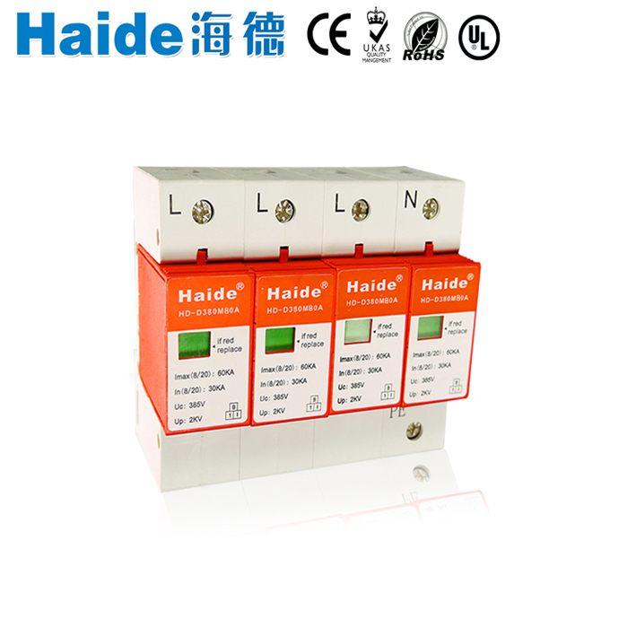 A Three-phase module 380V power main panel connection surge protector