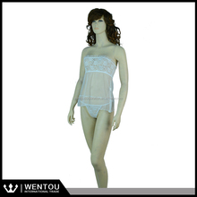 Wholesale Woman Bustier White G-string Lace Babydoll Lingerie