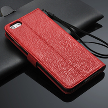 2017 New product Leather back case flip full cover for iphone 6 plus mobile phone case