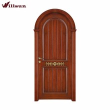 Indian arch single wooden interior door pooja room designs