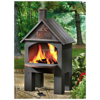 Cabin Cooking Steel Chiminea, garden fire pit