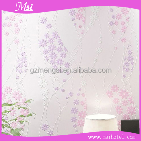 Korean Pastoralism Style Non-woven Materials 3D Wallpaper for Hotel