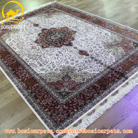 5.5x8ft iranian products handmade home textile persian silk carpet rug grammy red rugs hand knotted indian silk rug