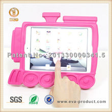 Hot selling train design kid proof silicone tablet case cover for ipad mini