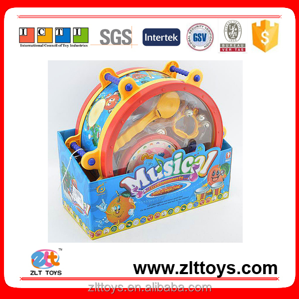 Factory price kids pretend toys plastic drum set