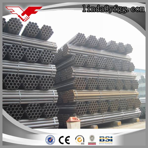 China Factory q235 Scaffolding Black ERW Iron Steel Pipe Weight