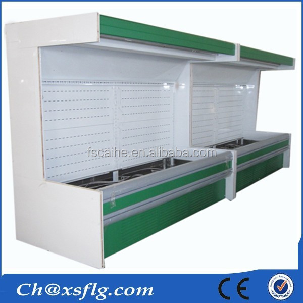 Metal small priced supermarket showcase refrigerators