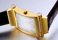Assisi High quailty diamond square fashion gold bangle watch