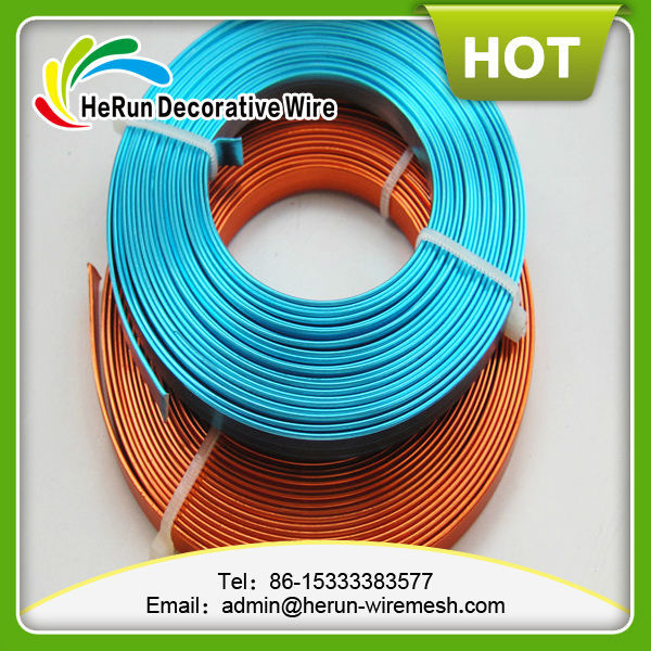 HR jewelry flat aluminum craft wire