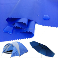 190T 210T POLYESTER TAFFETA PU PA PVC waterproof cated umbrella raincoat tent waterproof fabric silver coated car cover fabric