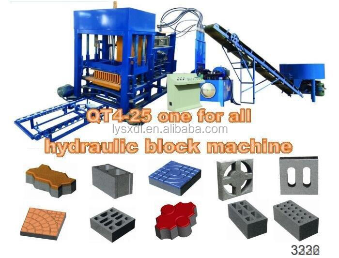 Best sell product QT4-25B hydraulic block making used concrete block making mac... for sale