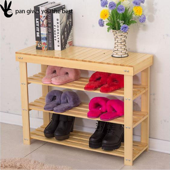 new wood shoe bench entryway organizer storage rack mud room shoes brown