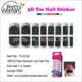 China Nail Supplier New nail art wraps 16pcs Nail Stickers Pretty Woman Factory