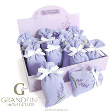 gift items low cost scented fabric sachet with lavender embroidery in paper display box