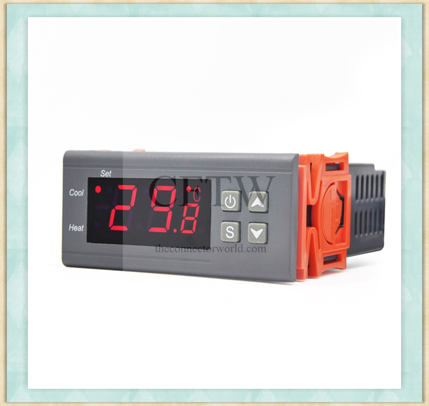 AC220V10A Heating Cooling Control 1m Sensor Automatic Thermostat Regulator Mini Digital Temperature Controller Aquarium