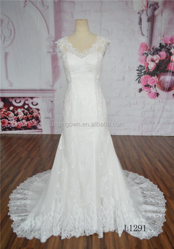 Fish cut new mermaid wedding dresses from guangzhou for Guangzhou wedding dress market