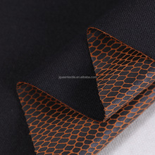 polyester weft knit faux leather bronze garment fabric compression garment fabric pressure garment fabric