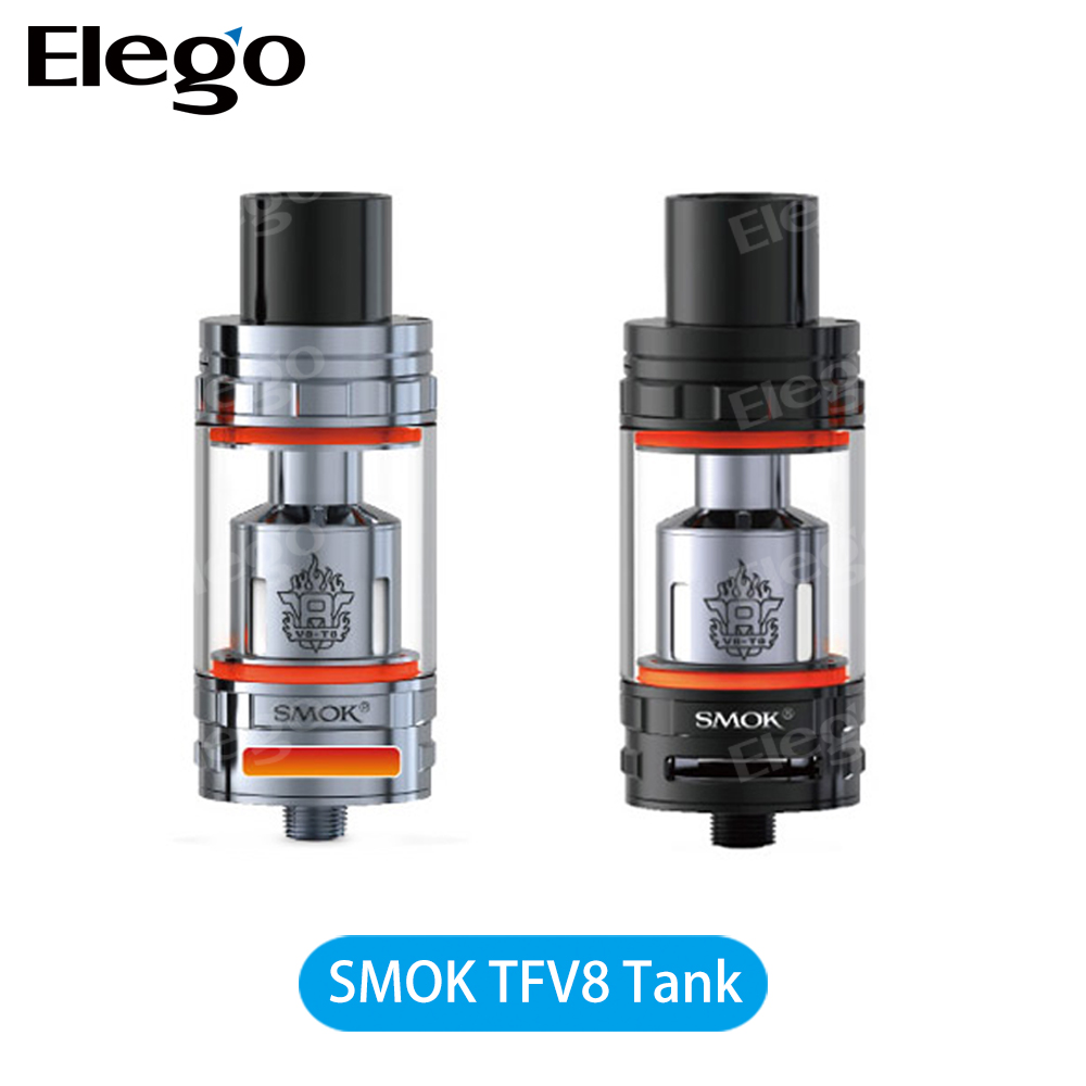 2016 Newest Vape Tank 100% Original SMOK TFV8 Tank / SMOK TFV8 Atomizer with Bigger Air Slots & Bigger Heating Air Tube