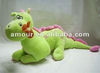 Super cute soft funny dinosaur toy stuffed plush big green cartoon dinosaur new toys for christmas 2013 cheap