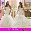 Supplier Custom Made Beaded Lace Mermaid Organza Wedding Dress 2016