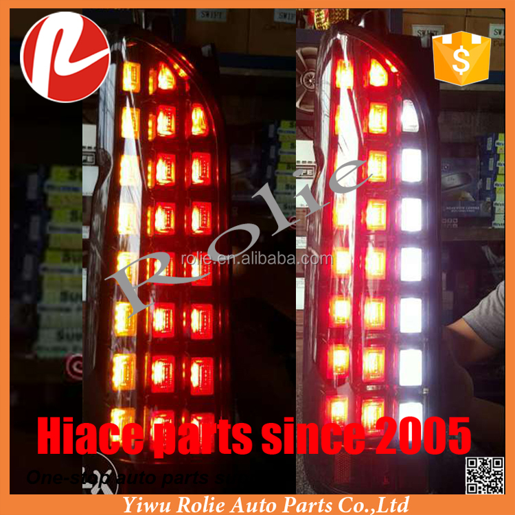 Toyota HiAce Grandia CCFL projector Headlamps led DRL head tail light