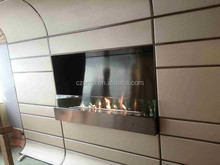 Fashion true fire wall fireplace safer than gas fireplace