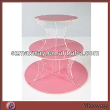 Pink Perspex Wedding Cupcake Stand, Acrylic Cupcake Tower Display Holder