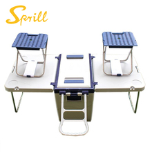 SPRILL 2018 new design outdoor picnic camping 28L small stool folding cooler box with table