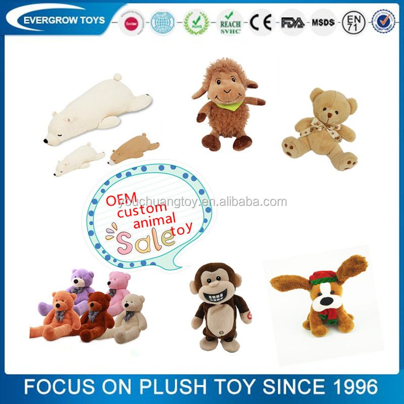 professional design OEM animal plush toy stuffed custom plush toy