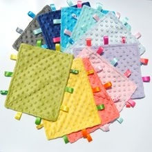 New Sale 100% Polyester Minky Security Baby Bubble Tag Blanket