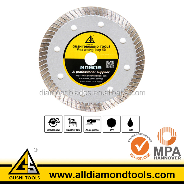 Diamond Circular Turbo Saw Blade for Dry Cutting Marble Stone