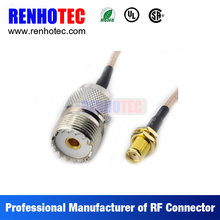 ethernet cable connector, cables and connectors, UHF female connector to gold plated tnc female adapter with rf cable rg59